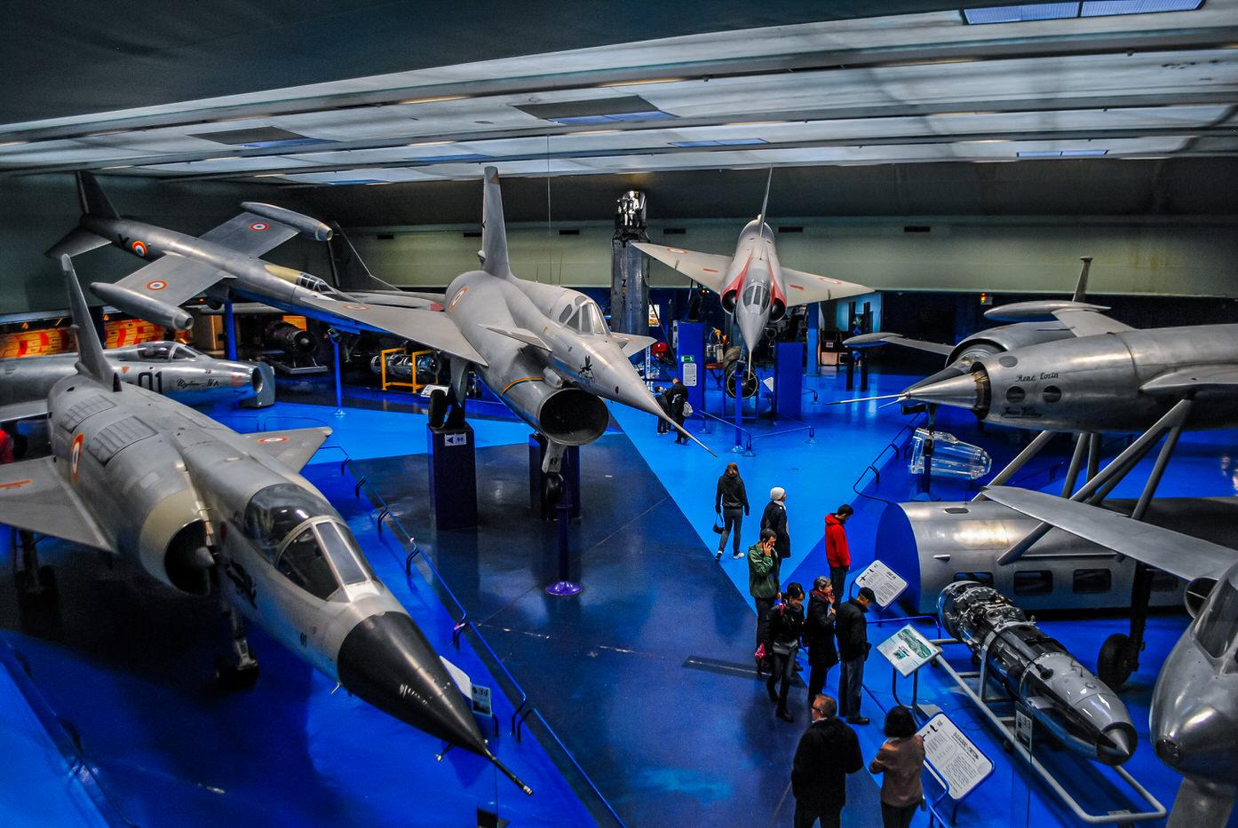 Hall des prototypes au musée de l'air et de l'espace du Bourget