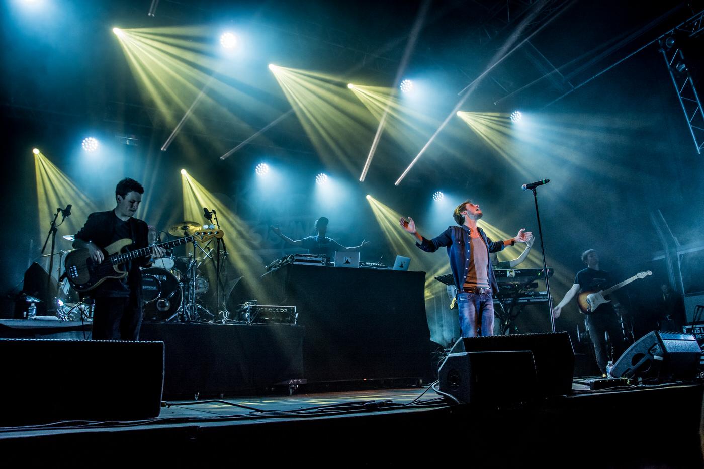 Naaman en concert lors du festival des Moissons Rock 22