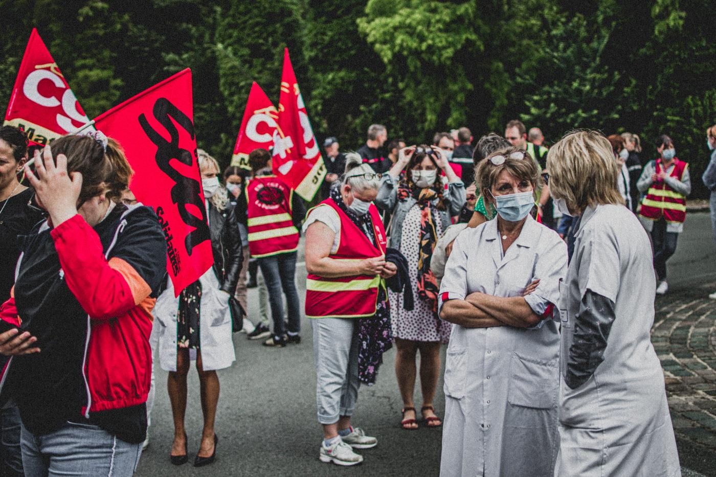 Manifestaton de soutien au personnels soignants