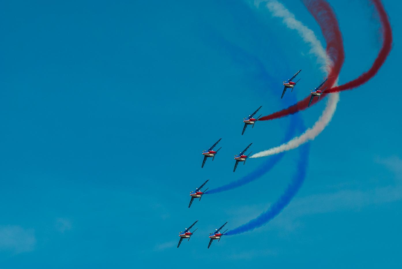 Patrouille de France en démonstration lors du meeting aérien d