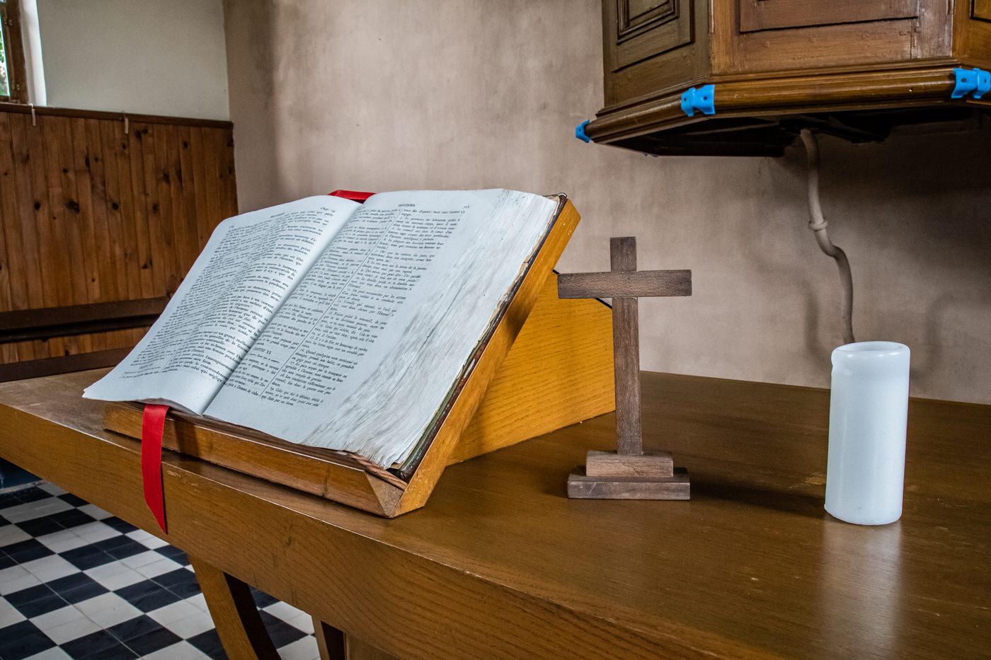 Scenographie au temple protestant de Parfondeval